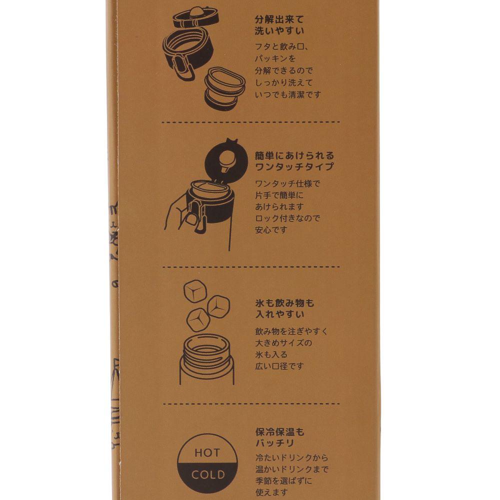 FukuFukuNyanko ワンタッチステンレスボトル(CAMP)