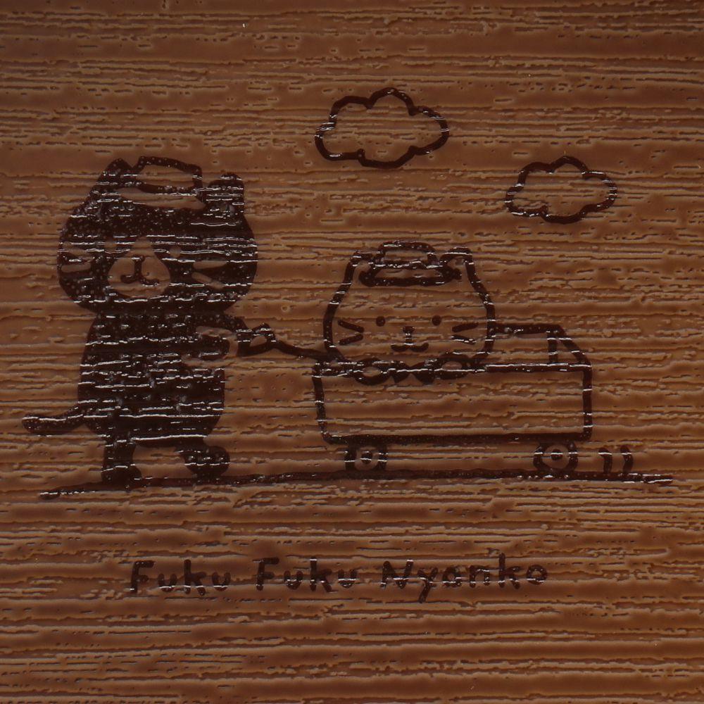 FukuFukuNyanko ウッド調スクエアボウル(CAMP)