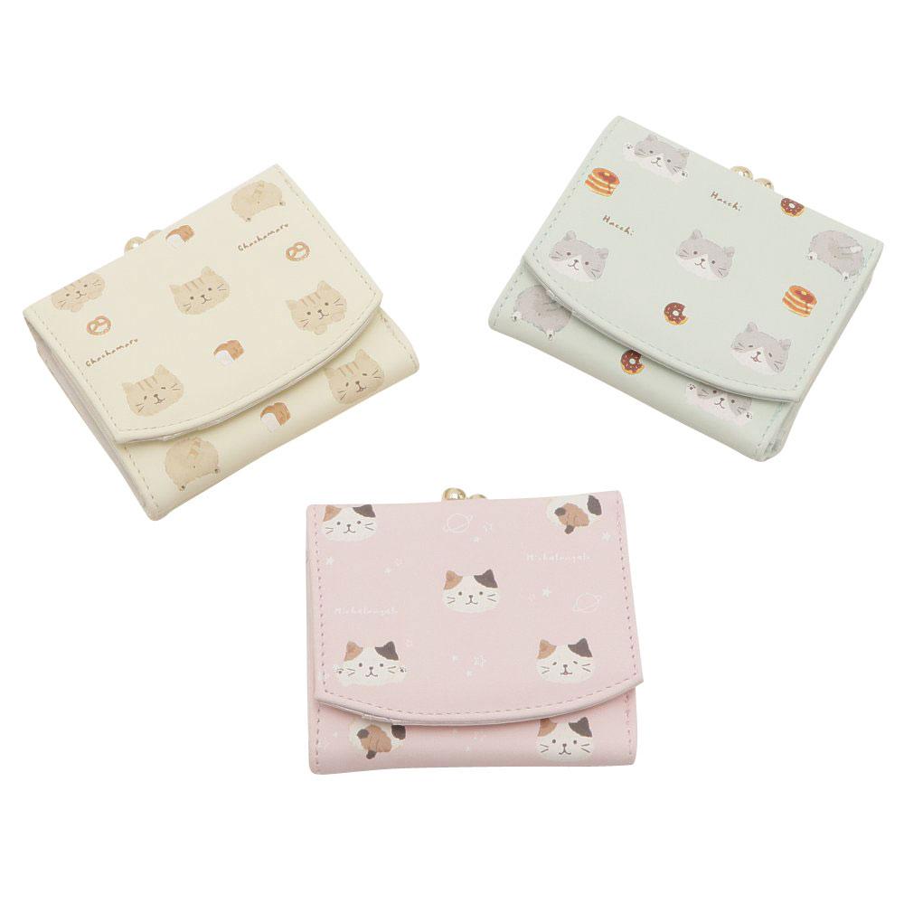 FukuFukuNyanko ふわりミニ財布(がま口)