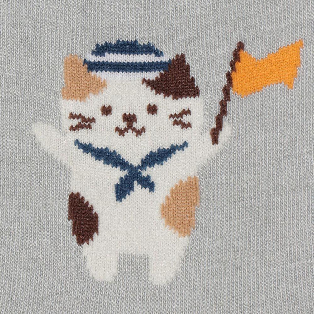 FukuFukuNyanko 涼感ロークルーソックス【3足税込1100円】