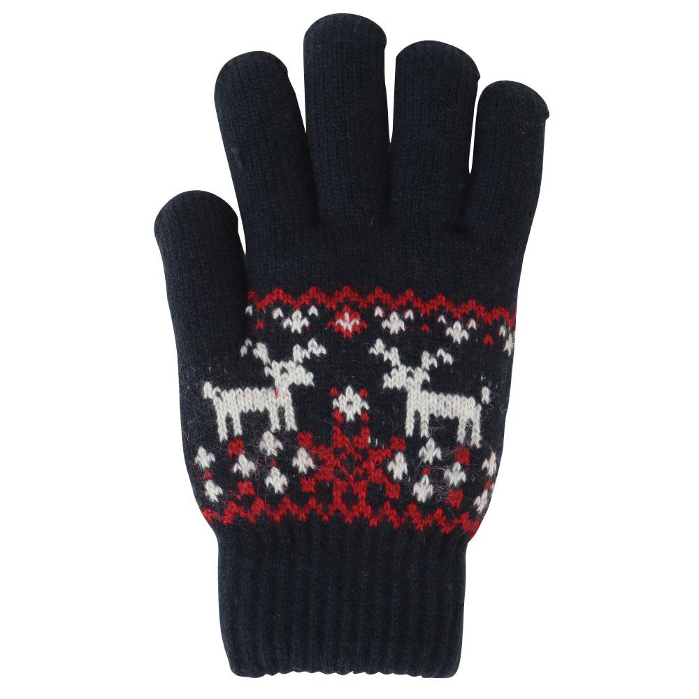 ジャガードアニマル手袋(トナカイ)