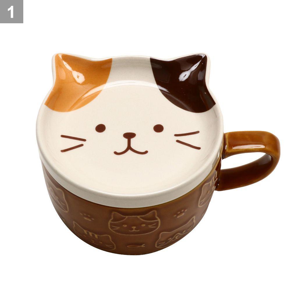FukuFukuNyanko フェイスふた付きマグカップ