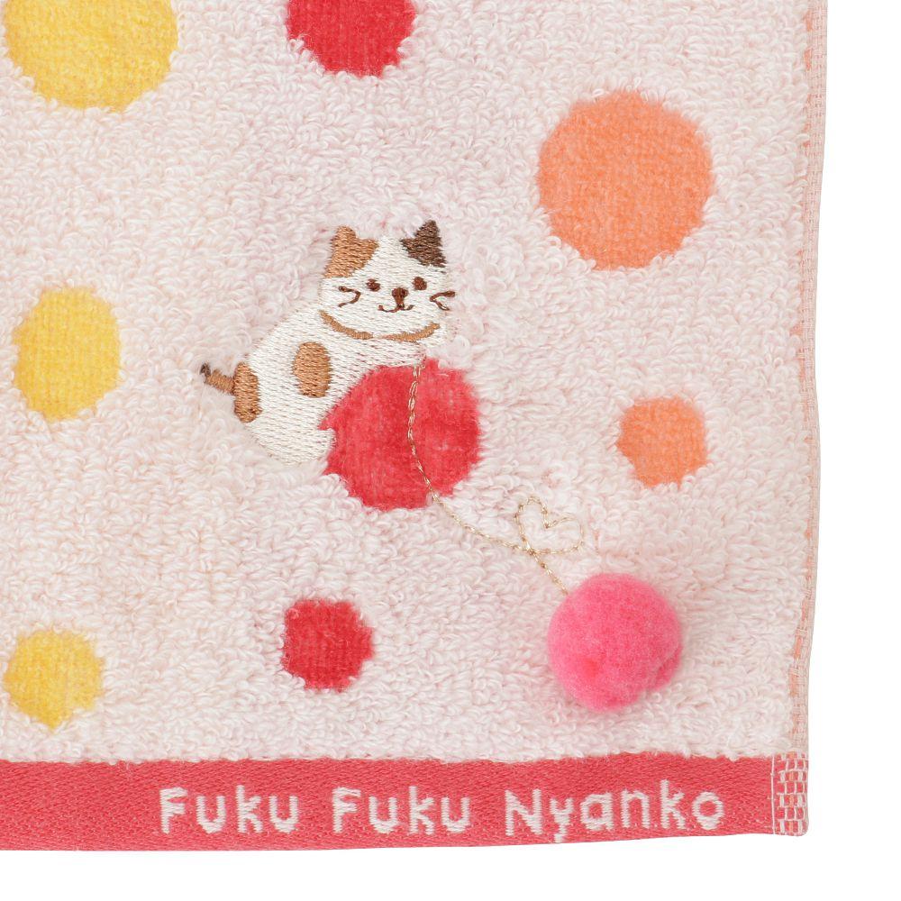 FukuFukuNyanko ハンドタオル(ドット)