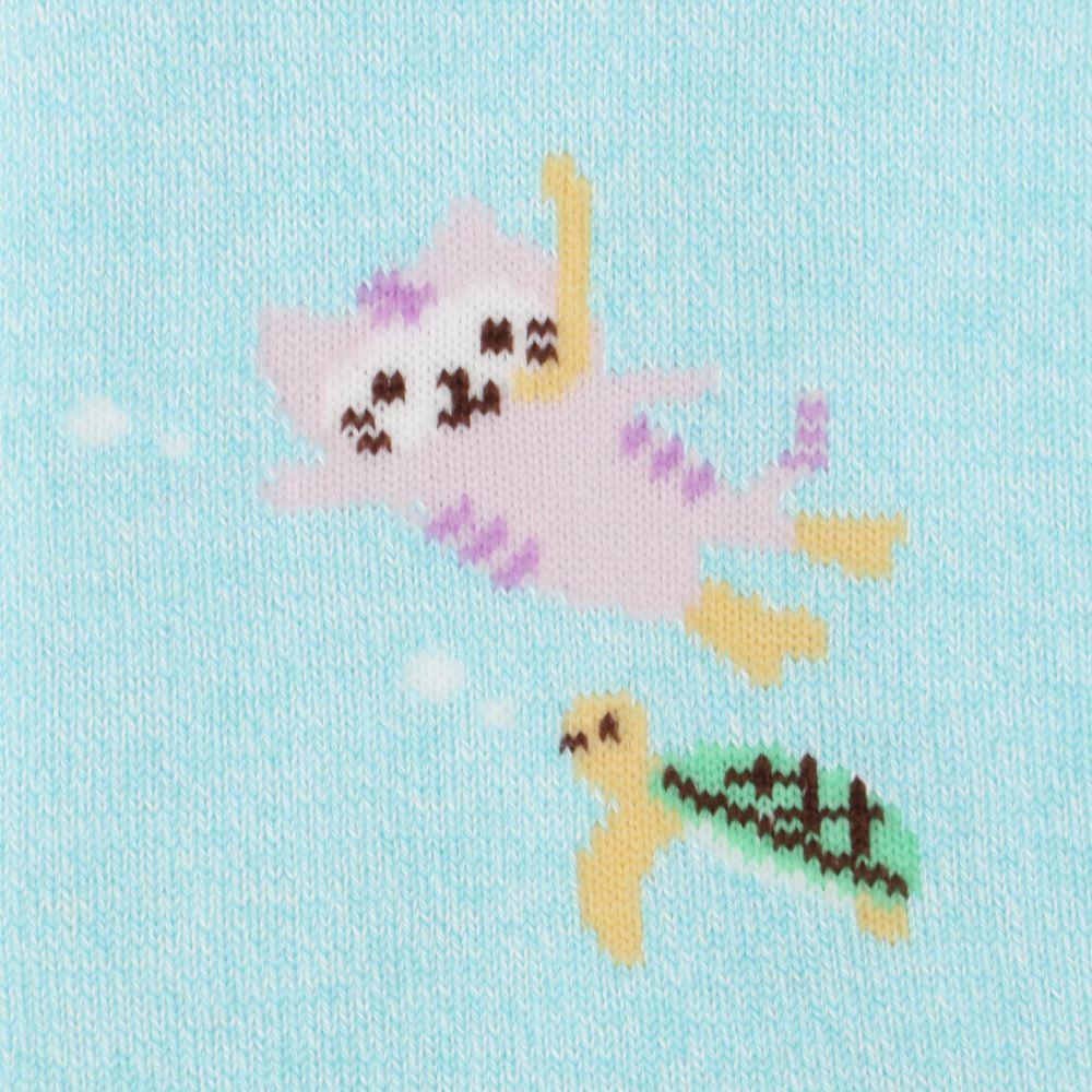 FukuFukuNyanko 涼感ショートソックス【3足税込1100円】