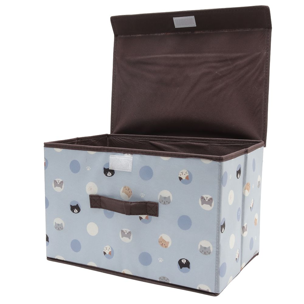 FukuFukuNyanko ドット不織布収納BOX