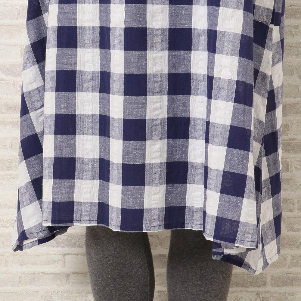 サラッとウェア 袖付きワンピース