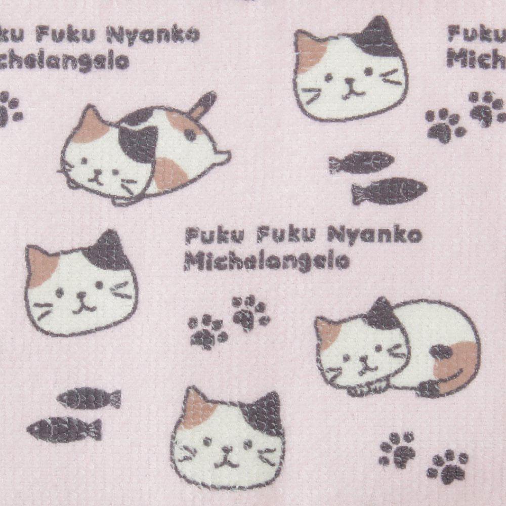FukuFukuNyanko ポーチ入りマイクロふきん4枚セット