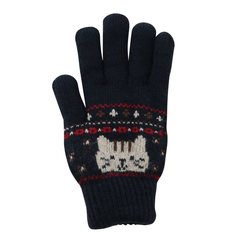 FukuFukuNyanko ジャガード手袋