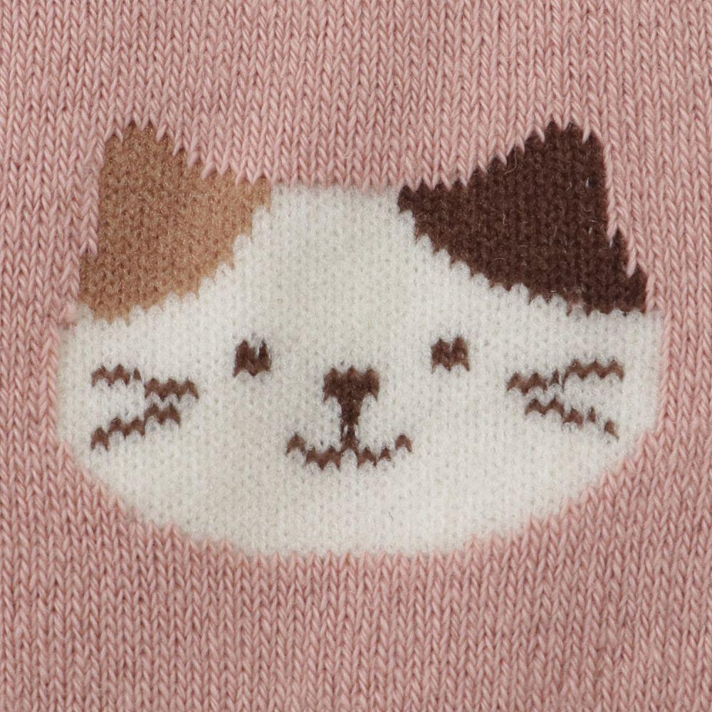 FukuFukuNyanko 裏パイルソックス(総柄)【3足税込1100円】