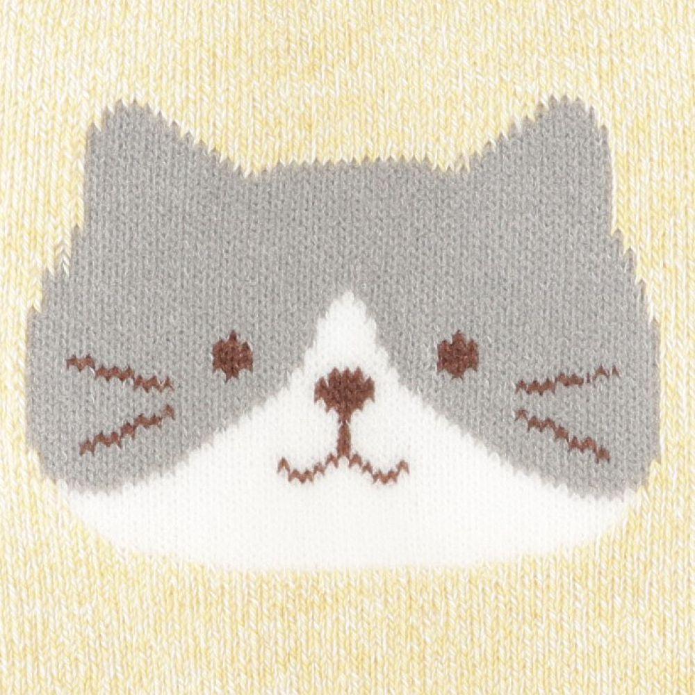 FukuFukuNyanko 裏パイルソックス(無地フェイス)【3足税込1100円】