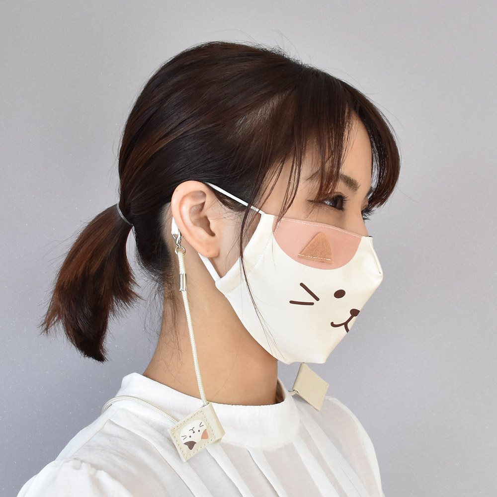 FukuFukuNyanko フェイス立体マスク(大人サイズ)
