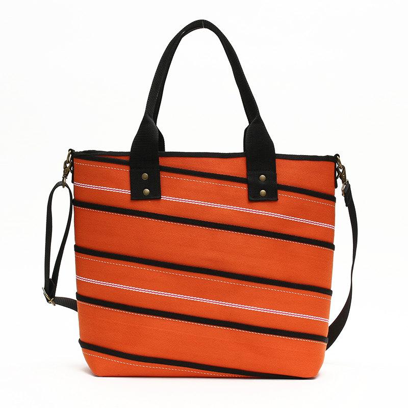スパイラルトートバッグ(アラミド繊維配合ホース/オレンジ)