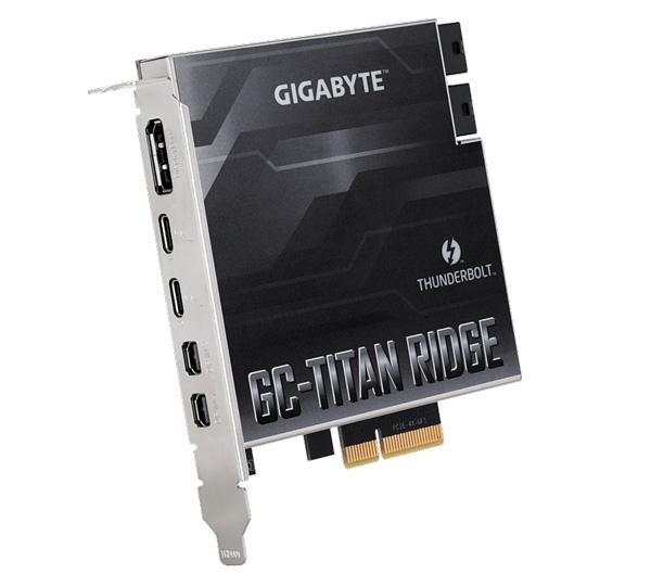 GIGABYTE GC-TITAN RIDGE マザーボード用 Thunderbolt3 拡張カード GC-TITAN RIDGE