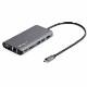 StarTech USB Type-C マルチ変換アダプタ HDMIまたはVGA出力対応 100W PD/30cmホストケーブル/SDカードリーダ USB-C接続マルチハブ|DKT30CHVAUSP