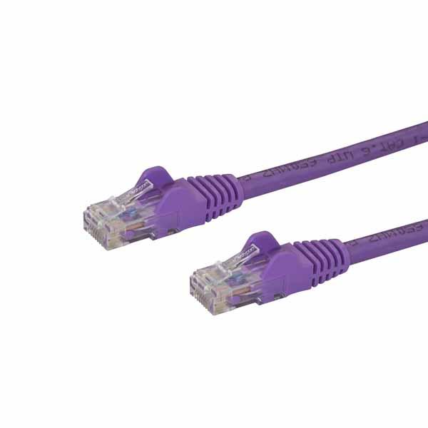 StarTech カテゴリ6 LANケーブル 2m パープル ツメ折れ防止RJ45コネクタ Cat6 UTPギガビットイーサネットケーブル N6PATC2MPL