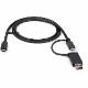 StarTech USB Type-C ケーブル/1m/USB-C-USB-A変換アダプタ付き/USB-C & USB-A対応ドッキングステーション用ケーブル|USBCCADP