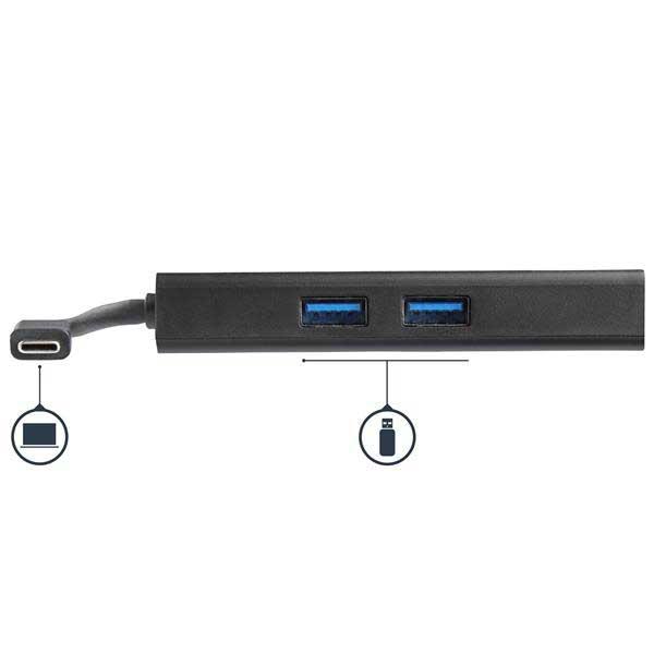StarTech USB Type-C接続ノートパソコン用マルチポートアダプタ 4K HDMI対応 USB Power Delivery(USB PD)対応 USB 3.0 2ポート搭載 ギガビットイーサネット|DKT30CHPD