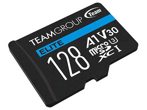 Team microSDXCカード  V30 128GB R/W up to 90/45MB/s USBメモリカードリーダー付 |TEAUSDX128GIV30A103