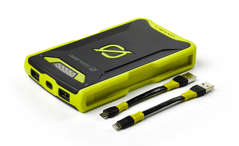 Goal Zero Venture 70 Recharger Lightningケーブル/MicroUSBケーブル付属 アウトドア向けの耐水・耐衝撃性を装備17700mAh/454g モバイルバッテリー|22013