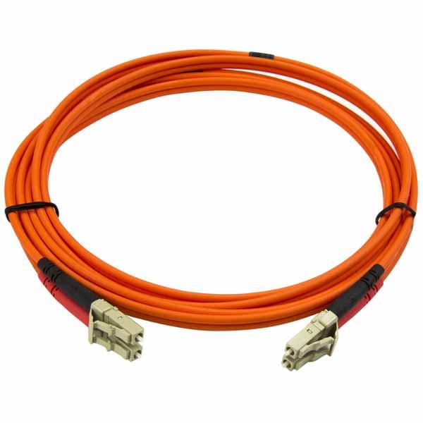StarTech 2m 光ファイバーケーブル(光パッチコード) マルチモード対応 コア径50ミクロン/芯径125ミクロン 2芯Duplex LC-LCコネクタ |50FIBLCLC2