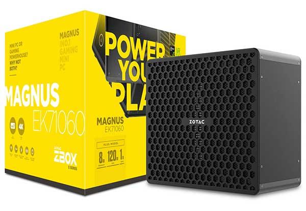 ZOTAC ZBOX MAGNUS EK71060 PLUS メモリ8GB/SSD 120GB/HDD 1TB ゲーミングベアボーン|ZBOX-EK71060-P-J