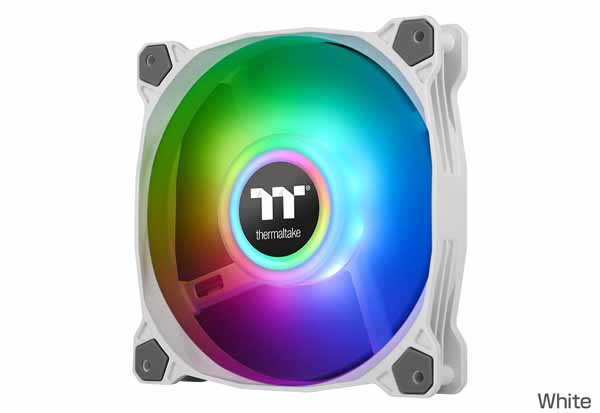 Thermaltake Pure Duo 14 ARGB White -2Pack- 140mm径ファン ホワイト|CL-F098-PL14SW-A