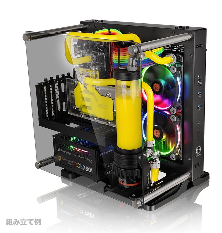Thermaltake Core P1 TG 強化ガラスパネルMini-ITXオープンフレーム型PCケース|CA-1H9-00T1WN-00