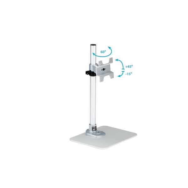 StarTech シングル液晶モニタースタンド 角度と高さの調整に対応 12〜34インチVESA規格モニタ対応 プレミアム スチール製 シルバー|ARMPIVSTND