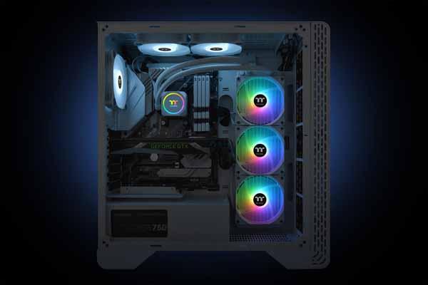 Thermaltake TH360 ARGB Sync Snow Edition 水冷一体型CPUクーラー ホワイト CL-W302-PL12SW-A