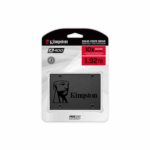 Kingston A400 SATA SSD 容量1.92TB 2.5インチ 3D NAND 7mm (Read 500MB Write 450MB) 3年メーカー保証|SA400S37/1920G