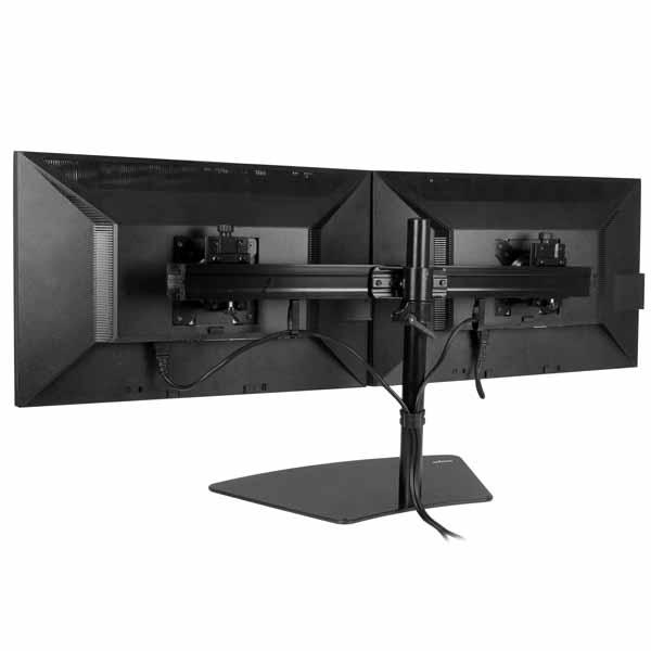 StarTech デュアル液晶モニタースタンド 2面横型 2面対応液晶ディスプレイモニター台 24インチマデ対応 |ARMBARDUO