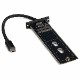 StarTech USB Type-C接続M.2 SATA SSDケース 本体一体型ケーブル USB 3.1(10Gbps)準拠 M.2 NVMe SSD非対応 SM21BMU31CI3