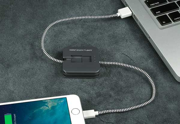 Native Union Jump Cable  800mAh ケーブル一体型モバイルバッテリー|JCABLE-L-GRY