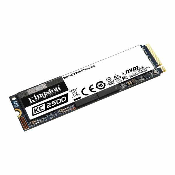 Kingston KC2500 NVMe PCIe SSD 容量250GB M.2(2280) 3D TLC 3.5mm  (Read 3500MB Write 1200MB)  5年メーカー保証 SKC2500M8/250G