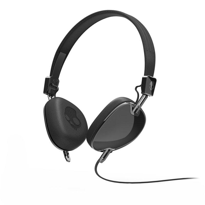 Skullcandy navigator Black/Black w/mic3 ティアドロップ形サングラスデザインのヘッドホン (S5AVDM-161)