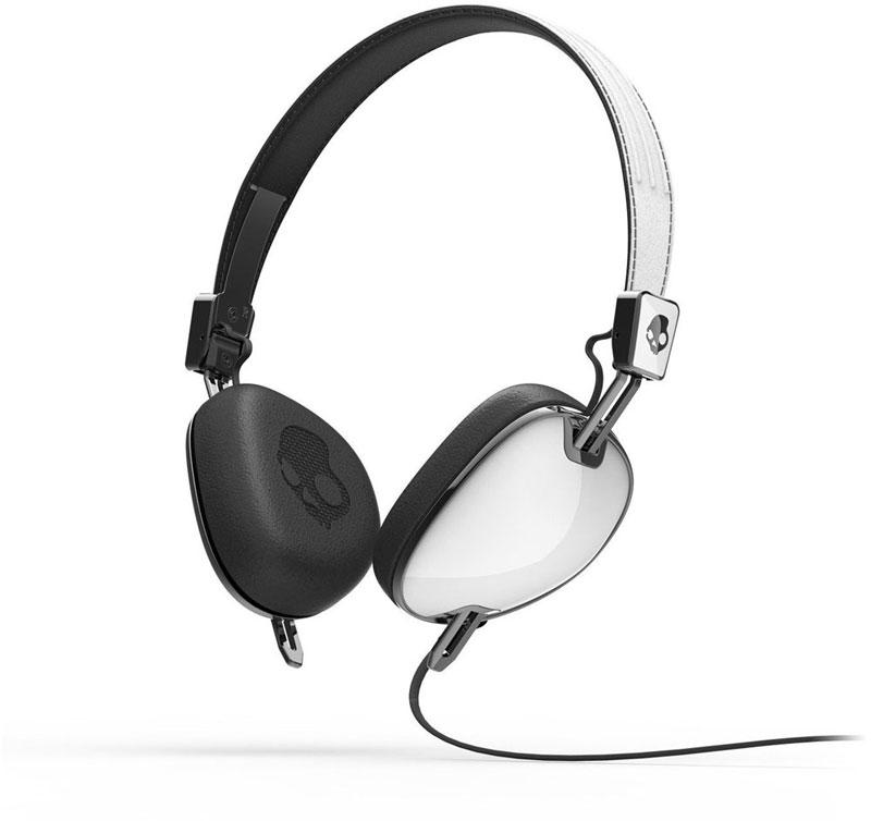 Skullcandy navigator White/Black w/mic3 ティアドロップ形サングラスデザインのヘッドホン S5AVDM-074 (S5AVDM074)