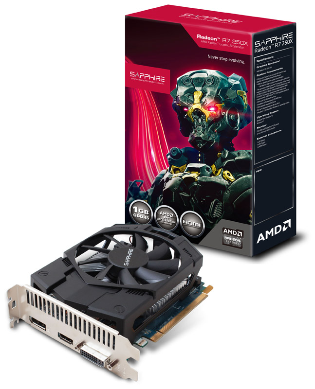 Sapphire R7 250X 1G GDDR5 PCI-E HDMI / DVI-I / DP (SA-R7250X-1GD5R02/11229-00-20G)