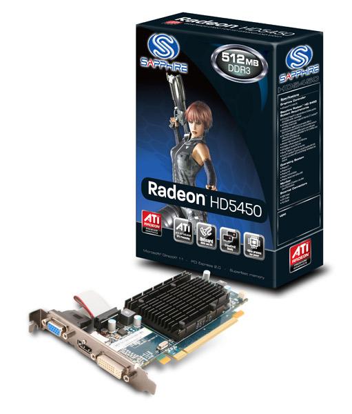 Sapphire HD5450 512M DDR3 PCI-E HDMI/DVI-I/VGA (SA-HD5450-512MD3R00/11166-01-20R)