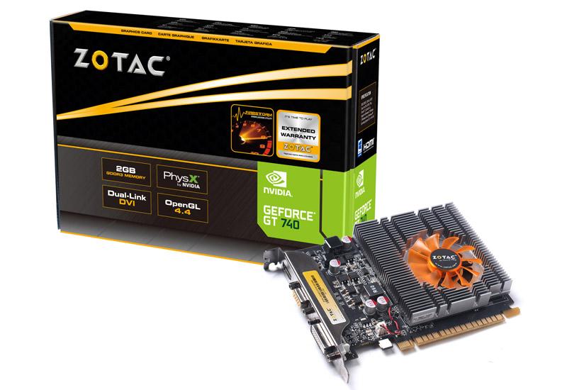 ZOTAC GeForce GT 740 2GB DDR3 1slot (ZTGTX740-2GD3R01/ZT-71004-10L)