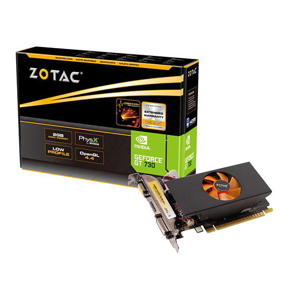 ZOTAC GeForce GT 730 LP 2GB DDR5 64bit 2slot|ZTGTX730-2GD5L64BR01/ZT-71101-10L