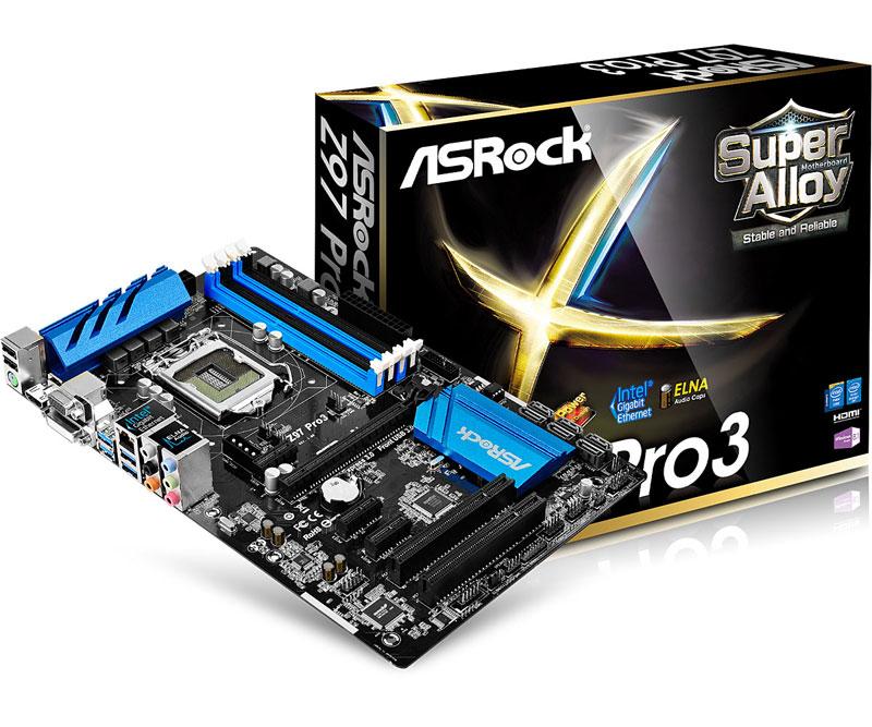ASRock ELNA製オーディオコンデンサ採用したコストパフォーマンスに優れたATXマザーボード Z97 Pro3 (Z97 Pro3)