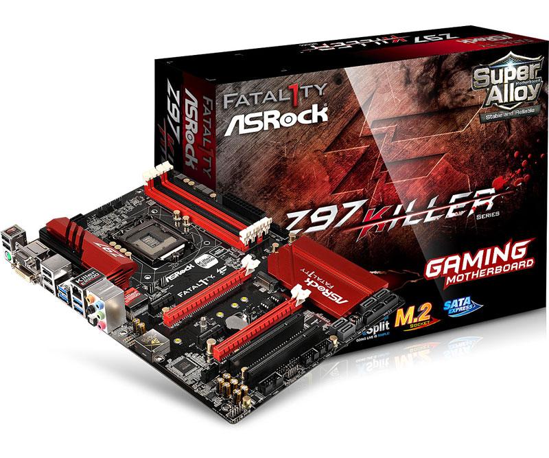ASRock オンラインゲームや高品質メディアストリーミング向け ATXマザーボード Z97 Killer (Z97 Killer)