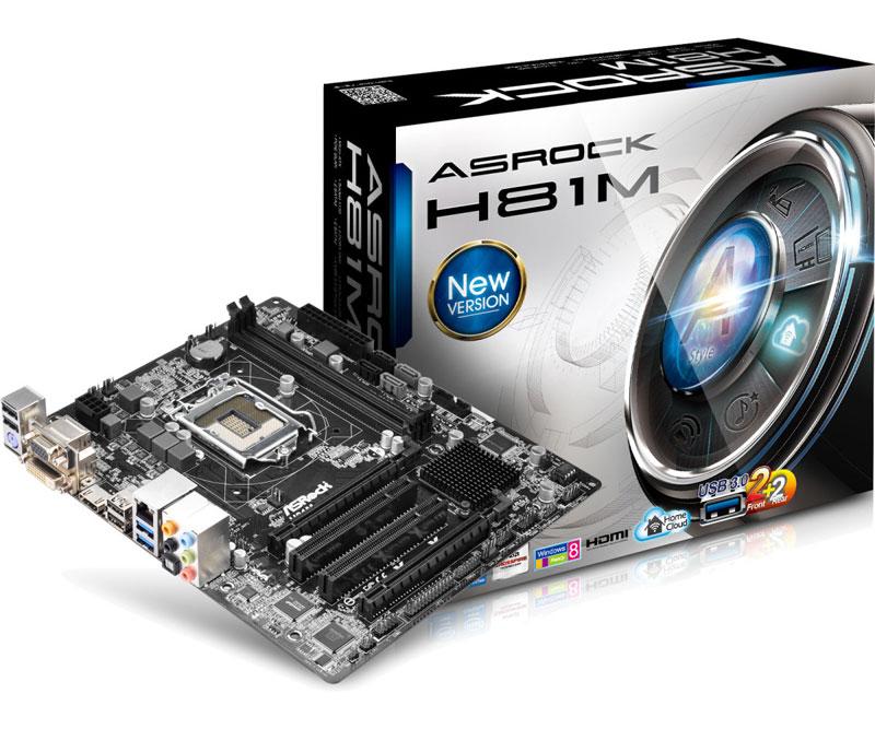 ASRock H81M インテルH81チップセット搭載Micro ATXマザーボード (H81M)