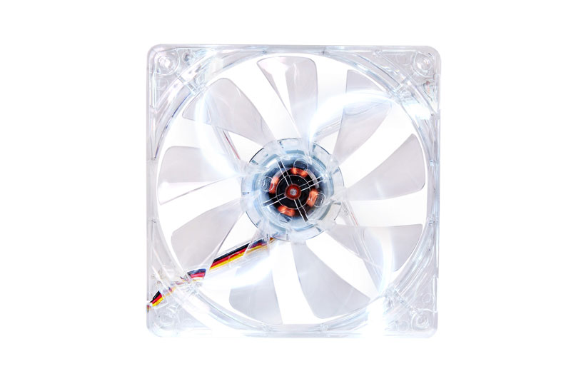 Thermaltake 低ノイズ、長寿命設計の冷却ファン 12cm Pure 12 LED White (CL-F020-PL12WT-A)