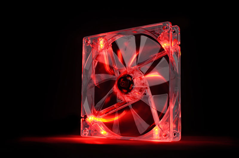 Thermaltake 低ノイズ、長寿命設計の冷却ファン 14cm Pure 14 LED Red(CL-F027-PL14RE-A)