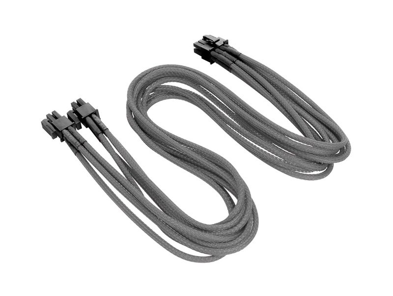 Thermaltake 4+4Pin ATX Sleeved Cable Gray 電源ユニット用スリーブケーブル グレー (AC-010-CNONAN-PG)