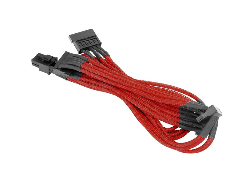 Thermaltake SATA Sleeved Cable Red 電源ユニット用スリーブケーブル レッド (AC-012-CN3NAN-PR)