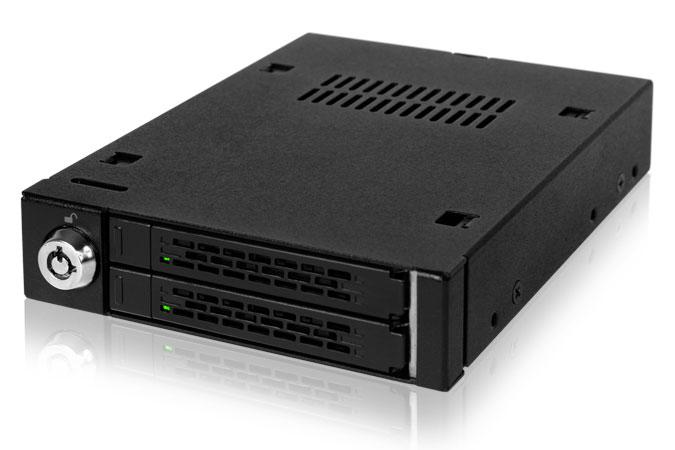 Cremax 2x 2.5インチ SATA HDD/SSD搭載用モバイルラック 3.5インチベイサイズ対応 (MB992SK-B)