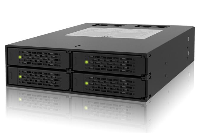 Cremax 4 x 2.5インチSATA 3 HDD/SSD搭載用モジュールケース 5インチベイサイズ対応 (MB994SP-4SB-1)