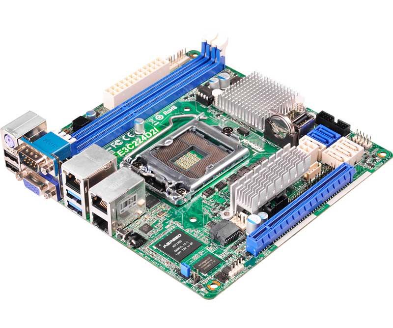 ASRock Rack LGA1150、Intel Xeon E3-1200 v3対応Mini-ITXサーバー向けマザーボード (E3C224D2I)
